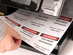 Laser Printable Polyester Sheets of Lockout Tags
