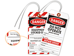 2-Part Safety Lockout Tags - Heavy Duty Cardstock