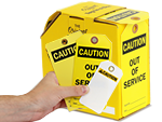 Brightly colored Caution Inspection Tags get noticed!