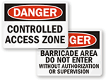 Controlled Access Signs