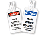 Custom Safety Tags with Self-Locking Tail