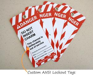 Custom ANSI Lockout Tags
