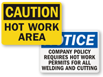Hot Work Signs