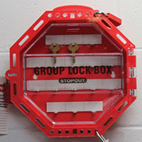 STOPOUT Octagonal Look 'n Stop Group Lock Box