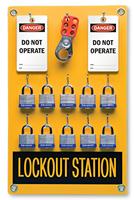 10 Position - Lockout Station Kit
