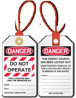 Do Not Operate Loop n Lock Tie Tag