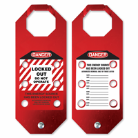 2-Sided STOPOUT Locked Out Aluma-Tag Hasp