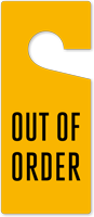 Out Of Order Door Hang Tag