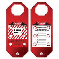 2-Sided STOPOUT Do Not Operate Aluma-Tag Hasp