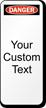Custom Danger Lock Out Padlock Label