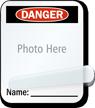 Photo Name Self-Laminating Padlock Label