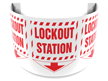 180 Degree Projecting Lockout Station Sign