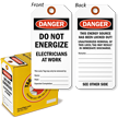Danger Do Not Energize Lock Out Tag-in-a-Box