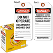 Danger Do Not Operate Equipment Locked Out Tag-in-a-Box