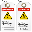 High Voltage Disconnect Power Danger Tag