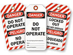 Bilingual Do Not Operate Tags
