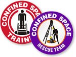 Confined Space Stickers