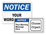 Custom Notice Labels