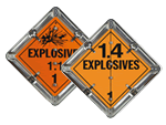 Flip-n-Lock™ Explosive Placards