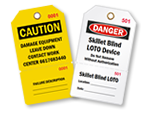 Custom Lockout Tags with Numbers and Tear-Off Stub