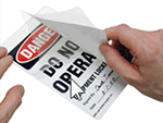 Danger Self-Laminating Tags