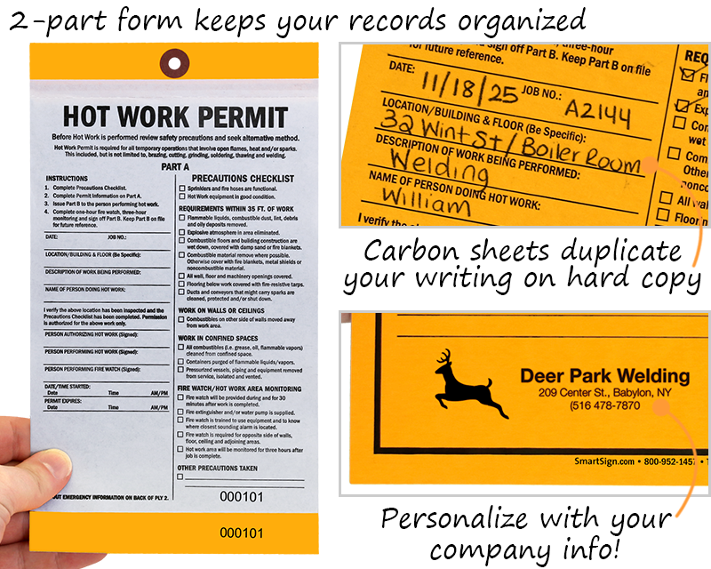graphic about Printable Workers Permit named Warm Function Tags, Very hot Perform Allow Tags
