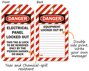 ANSI Double Side Safety Tags