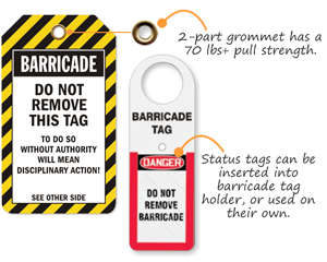 Barricade Tags  And Tag Holder