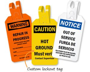 Custom lockout tag