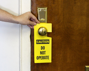 Lockout Door Hangers