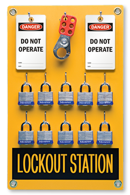 10 position lockout station kit lockout stations - Lock Out Tag Out Kits