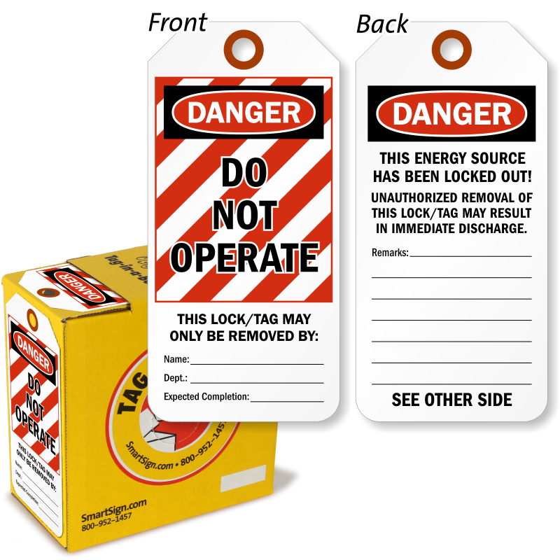 Lockout Tag are sold in a convenient box.