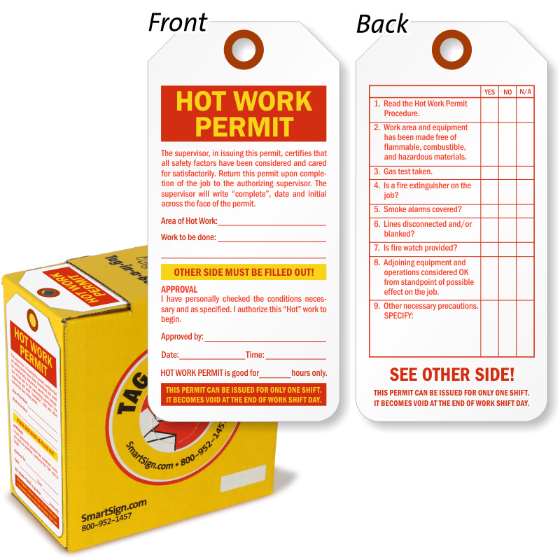 Hot work tags hot work permit tags zoom price buy pronofoot35fo Gallery