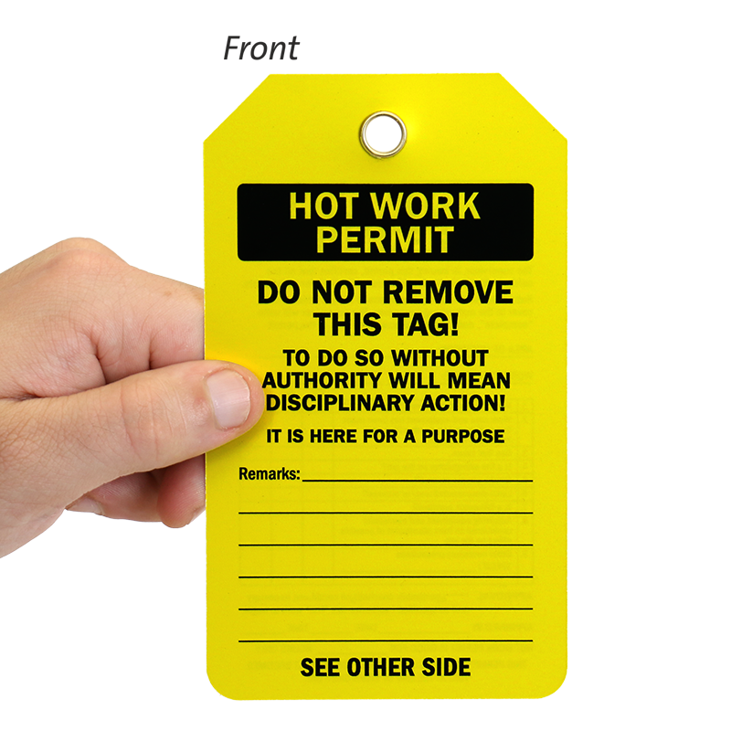 Hot work tags hot work permit tags hot work permit two sided confined space tag pronofoot35fo Gallery