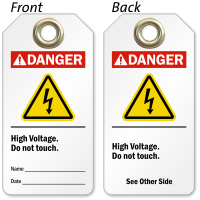 2 Sided High Voltage Tag