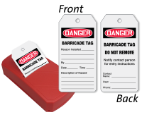 Barricade 2-Sided Inspection & Status Record QuickTags™ Dispenser
