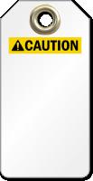 Blank ANSI Caution Tag