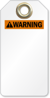 Blank ANSI Warning Tag