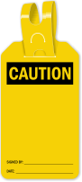 Blank Self Locking Caution Tag