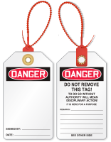2-Sided Blank Loop n Lock Danger Tie Tag