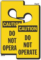 Caution Do Not Operate Lockout Door Hanger