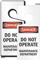 Caution Maintenance Department Lockout Door Hanger