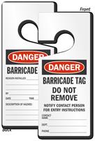 Danger Barricade Lockout Door Hanger