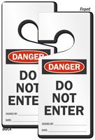 Danger Do Not Enter Lockout Door Hanger