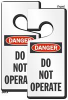 Danger Do Not Operate Lockout Door Hanger