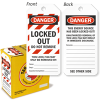Danger Locked Out Do Not Remove Lockout Tag-in-a-Box