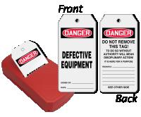 2-Sided OSHA Defective Equipment Refill Safety QuickTags™ Dispenser