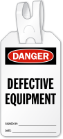 Defective Equipment Self Locking Tag