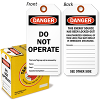 Danger Do Not Operate Lock Out Tag-in-a-Box