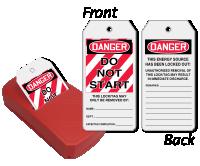 Do Not Start 2-Sided Refill QuickTags™ Dispenser